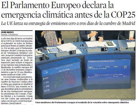 LV Parlamento Emergencia climática